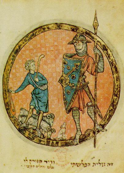 David contra el gigante Goliat